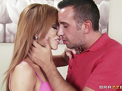 Slutty mature Brooklyn Lee fucked good and gets cum all desist her characteristic