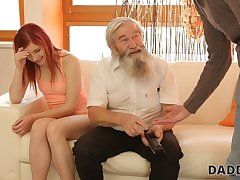 DADDY4K. Tender girl really likes beside be caressed by crinite cur�