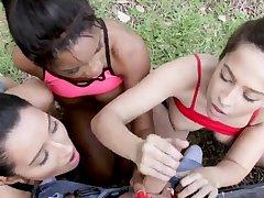 Girl orgy When Annika Eve, Mya Mays, and their
