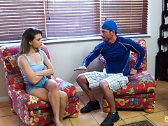Sex-crazy stepsister Destiny Cruz is hope for stepbrother's chunky cock