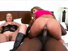 Hardcore interracial triumvirate goes anal
