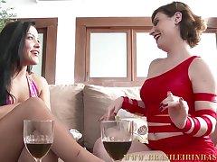 Brazilian hot cougars interracial porn video