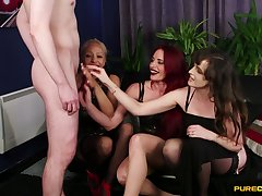 Ella Bella and other hotties shaming a guy with a small tool