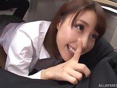 POV video of naughty Japanese penman Ayami Shunka giving head