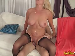 Golden Slut - Horny Grandmas Sitting on Big Cocks Compilation