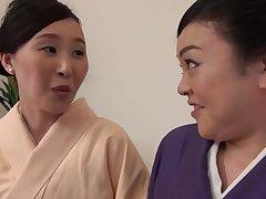 Passionate pussy licking between Uekawa Haruko and her collaborate