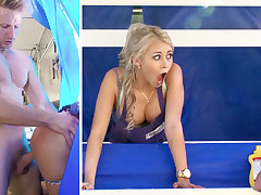 Secretary smashes blond in command be required of clients
