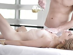 Oiled and fucked by the sex-mad masseur