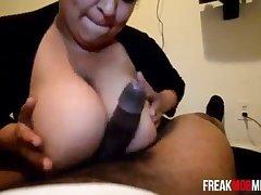 FreakMobBBW- Christina Negron Blowjob with huge tits 23 min  720p