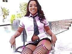 Morgan Lee a catch sexy schoolgirl fuck