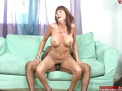 Mature Brunette Woman With Beamy Tits Enjoys Getting Her Pussy Fucked By A Bbc