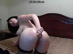 Solo angel enjoys anal masturbation with toys