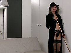 Sex-cray explicit Princess Mustang is toying her grotesque hairy snatch