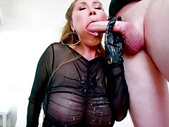 Kianna Dior ridding a friend's long and sticky penis after a blowjob