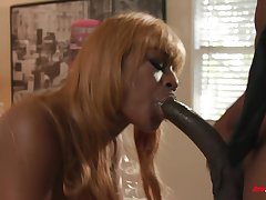 Curvy and busty ebony MILF Evi Rei fucked by a big black dick