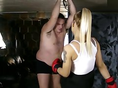 Dea Ludmilla - Fight near human flat tyre bag - Sadika