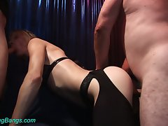 Professional whore Kitty is fucked hard by several hot blooded clients