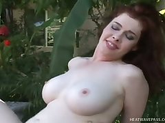Buxom beauty Mae Victoria rides a dick like a champ and she is a nutter girl