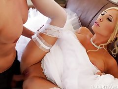 Marvelous, towheaded bride, Tasha Reign can not get married unless she smashes her paramour 1 more duration