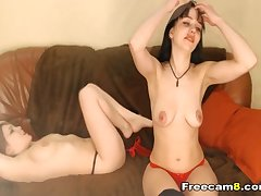 Lesbian College babes Love to Make Sex Selfie insusceptible to Cam