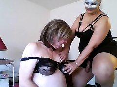 Mature femdom humiliates talisman dude into stripping
