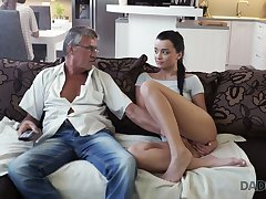 Old fart enjoys fucking cute stepdaughter's day Jessica