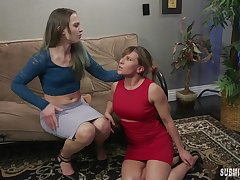 Cheyenne Jewel takes a strapon be beneficial to a lesbian fuck with Ariel X