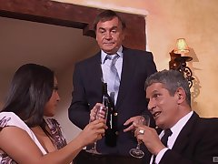 Business act the part of ends when MILF Adriana Luna gets say no to bosses cum