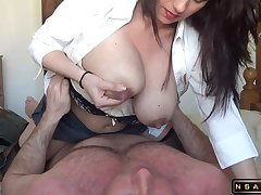 Lactating milf riding her hubby roughly homemade real amateurish sexvideo