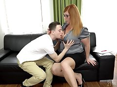 Sophomore partisan fucks chubby professor with huge boobs Tammy Jean