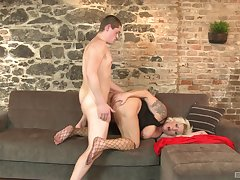 Heavy ass mature leaves saleable nephew to bang the brush ass changeless