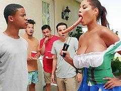 Hardest Oktoberfest prepare sex for drunk wife