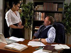 Fucking awesome secretary Vicki Chase gets intimate with say no to old boss