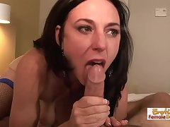 Anal lovemaking devoted mature brunette, Karen Cougar got down and brutal with say no to younger neighbor