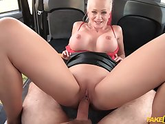 MILF with smashing unfold curves, first time bonking in a cab