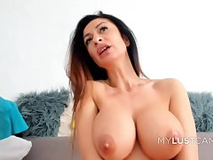 Hot Brunette Masturbates Her Pussy Fingering Clit